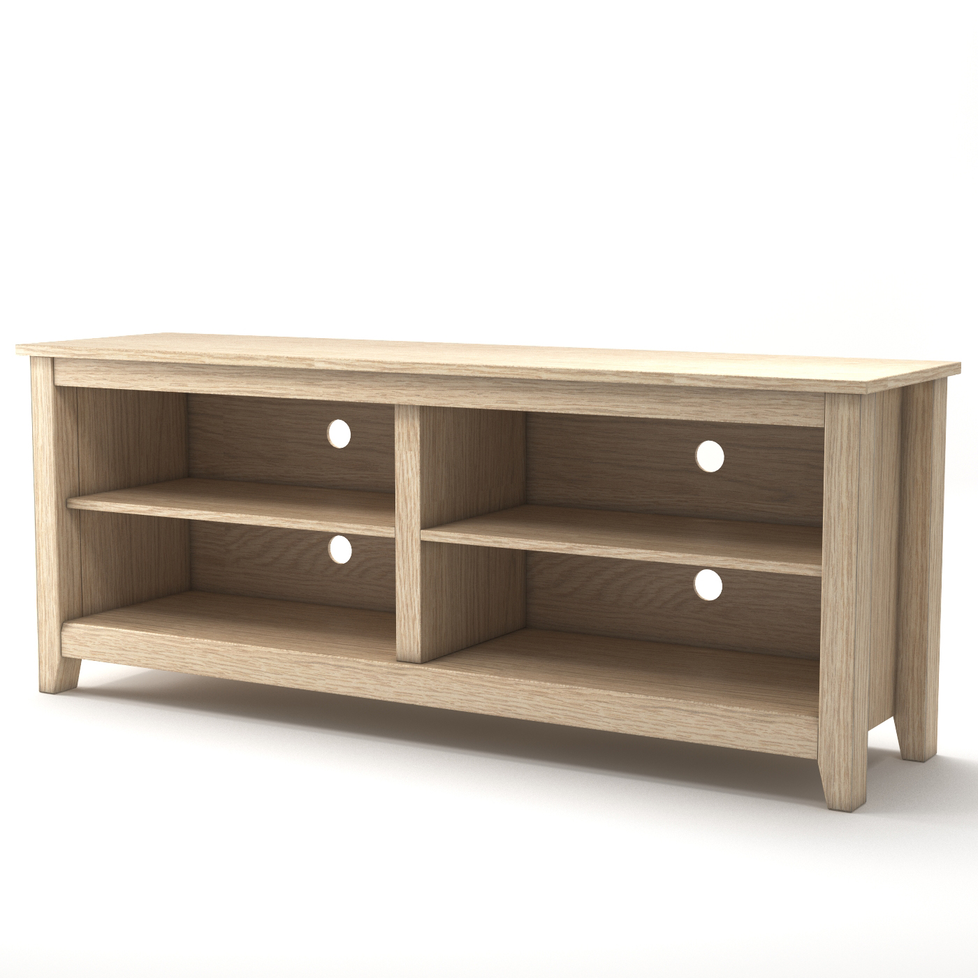 mission 58 inch wood tv console in natural. Black Bedroom Furniture Sets. Home Design Ideas