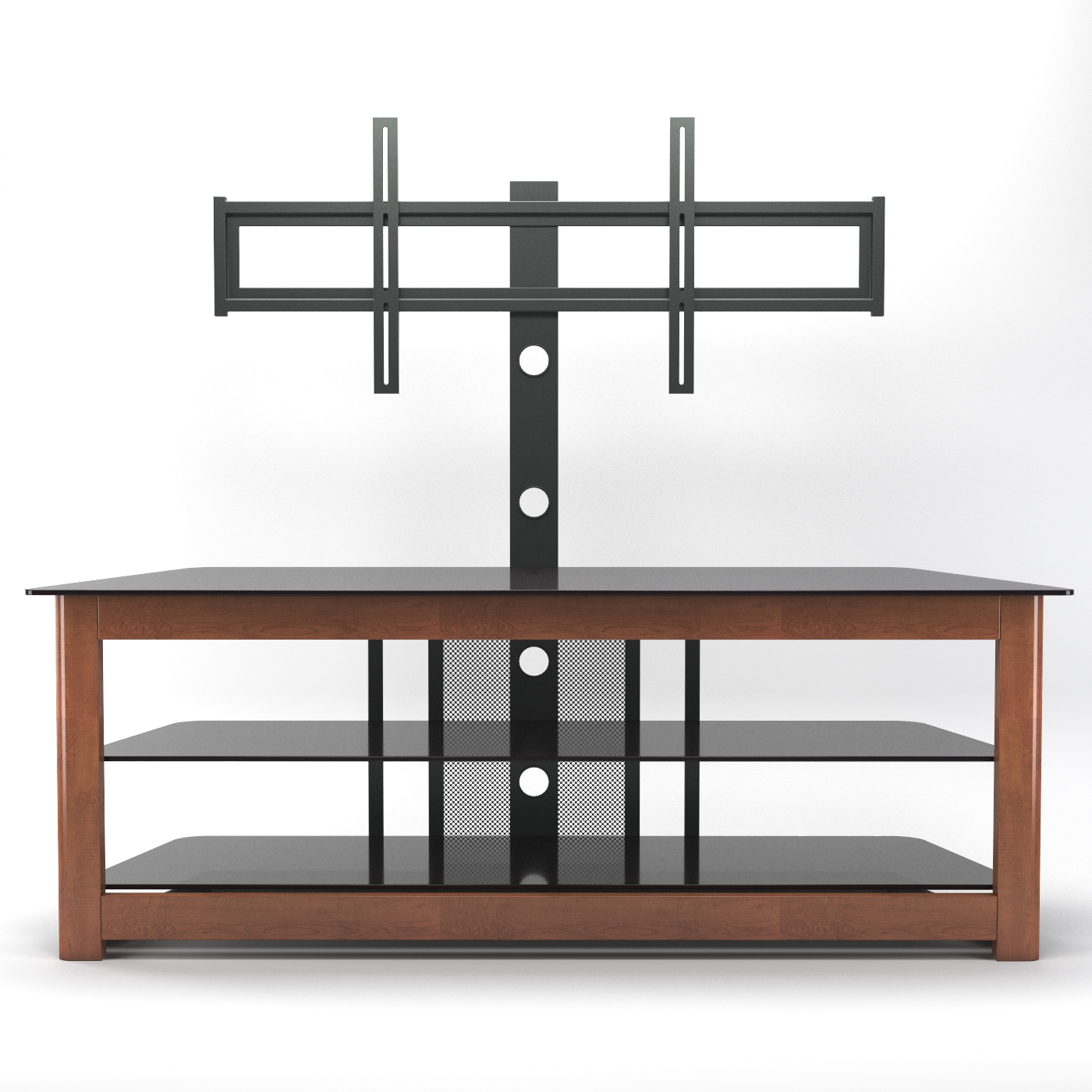 Lexington 60 Inch Floor Stand With Mount In Cherry