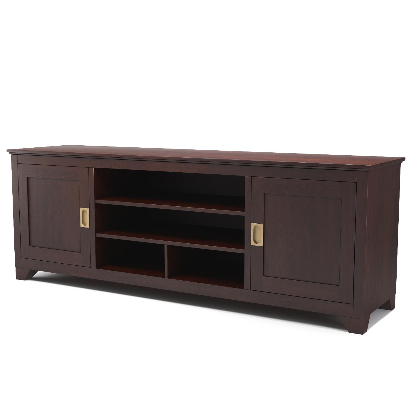 Carolina 70 inch tv console in espresso for 70 inch console table
