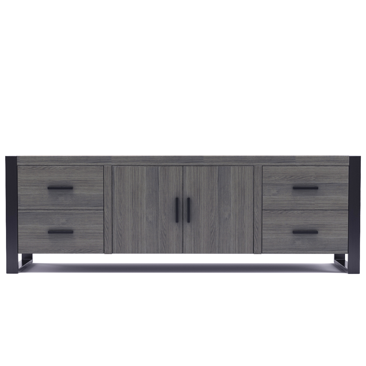 Dexter 70 Inch TV Stand in Ash Grey and Black