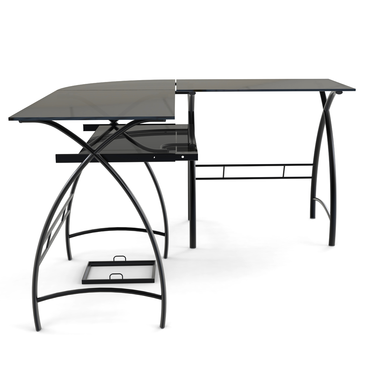 Stillman L Shaped Desk in Black