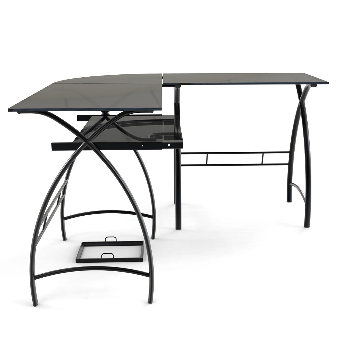 stillman 3piece corner lshaped computer desk in black