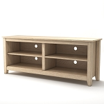Mission 58 Inch Wood TV Console in Natural