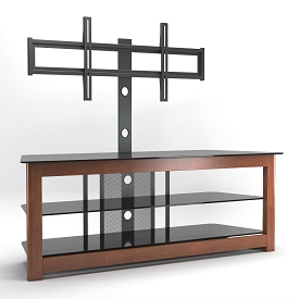 Bombay 60 Inch Floor Stand with Mount in Cherry