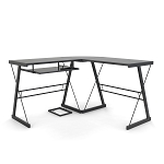 Madison L-Shaped Computer Desk in Black