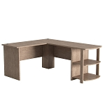 Kristen Corner L-Shaped Computer Desk in Salt Oak