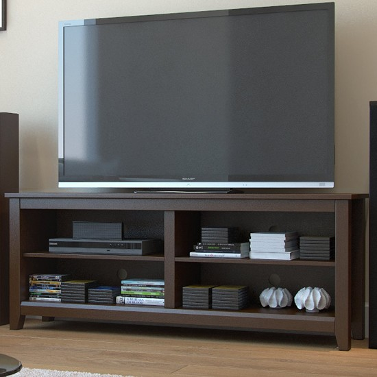 Mission 58 Inch Wood TV Console in Espresso