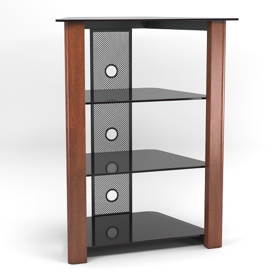 Ashton Multi-Level Component Stand in Wood Cherry with Cable Management System