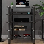 Hamlin Glass Component Stand in Black
