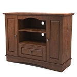 Kaydon 42 in. Bedroom TV Console with Media Storage in Traditional Brown