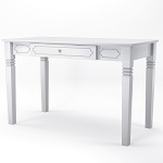 Annabel Wood Writers Desk in White