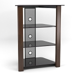 Ashton Multi-Level Component Stand in Wood Espresso with Cable Management System